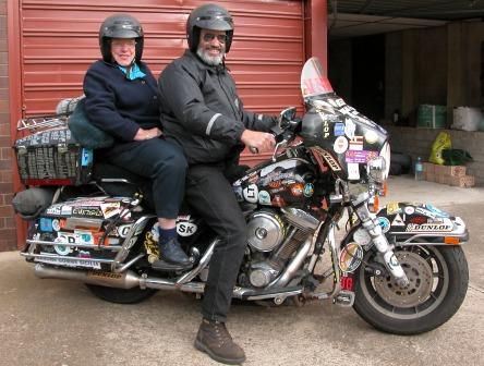 Peter Amp Kay Forwood Trip On A Harley Davidson To Australia