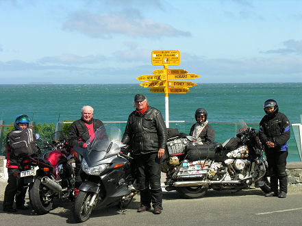 The signposts at Bluff, almost the southern point of New Zealand.