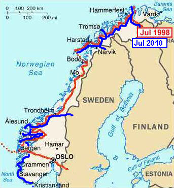 Peter Kay Forwood Trip On A HarleyDavidson To Norway - Norway highway map
