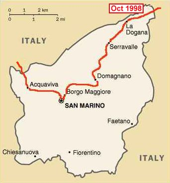 Peter kay forwood trip on a harley davidson to san marino for Flights to san marino italy