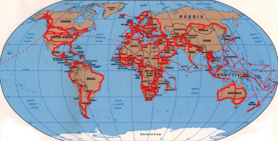 Qual a melhor moto viajante? Worldmap