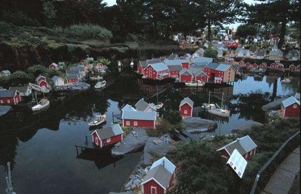Legoland version of the village of Reine, Lofoten Islands.