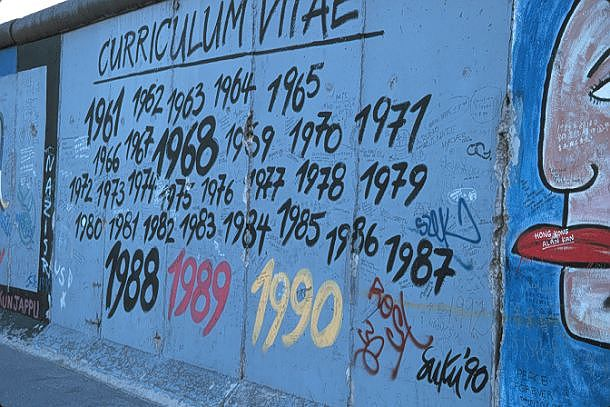 Berlin Wall graffiti - Berlin, Germany.