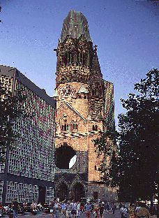 Bombed out Berlin chuch, the Kaiser Wilhelm Gedachtniskirche