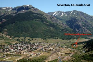 Silverton Colorado, with the HU Meeting location marked.