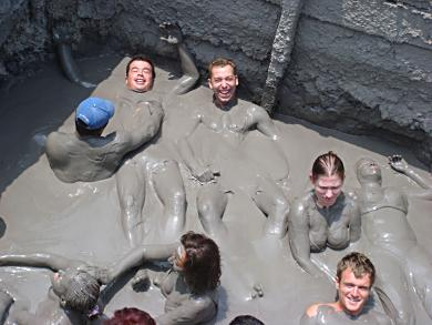 A dip in the therapeutic mud of Volcan de Lodo El Totumo was just perfect - even if we did look like African war chiefs!
