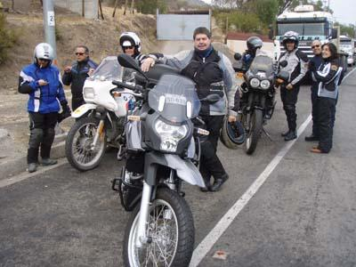 Some of the members from Aperrados Moto Club.