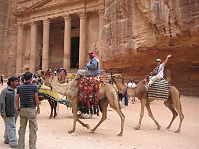 Thats Belinda on the camel at Petra Jordan!