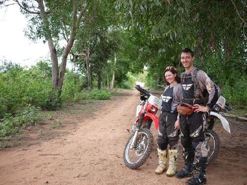 On honeymoon in Cambodia.