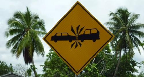 Brace for Impact sign in Panama City.