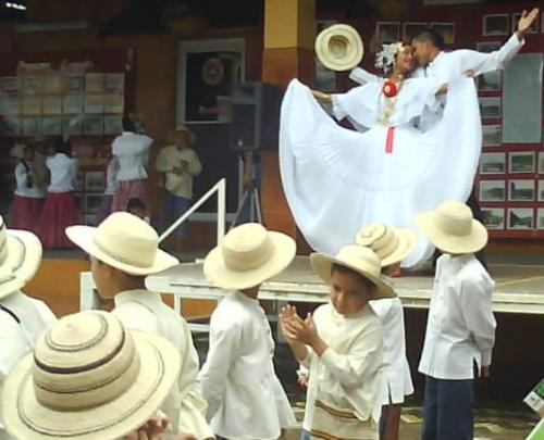Traditional Panama dancing.