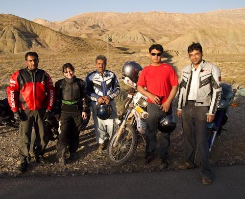 Danielle with the Quetta Bikers Club.