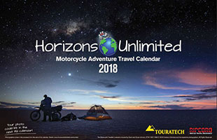 Horizons Unlimited 2017 Motorcycle Adventure Travel Calendar.