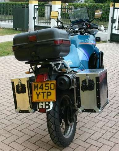Alex Pezzi's finished panniers.